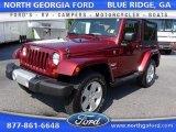 2010 Red Rock Crystal Pearl Jeep Wrangler Sahara 4x4 #105175561