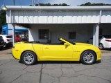 2015 Bright Yellow Chevrolet Camaro LT Convertible #105212894