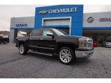 2015 Black Chevrolet Silverado 1500 LTZ Crew Cab 4x4 #105213106