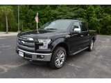 2015 Tuxedo Black Metallic Ford F150 Lariat SuperCrew 4x4 #105213154