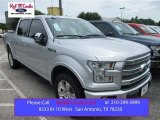 2015 Ingot Silver Metallic Ford F150 Platinum SuperCrew 4x4 #105250808