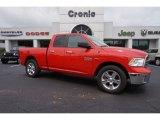 2014 Flame Red Ram 1500 Big Horn Quad Cab #105250991