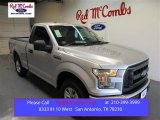2015 Ingot Silver Metallic Ford F150 XL Regular Cab #105282601