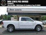 2014 Bright White Ram 1500 Laramie Quad Cab 4x4 #105282677