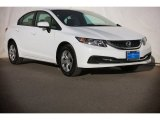 2015 Taffeta White Honda Civic LX Sedan #105282741