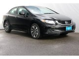 2015 Crystal Black Pearl Honda Civic EX Sedan #105282740