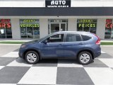 2013 Twilight Blue Metallic Honda CR-V EX-L #105330454