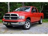 2003 Flame Red Dodge Ram 1500 SLT Quad Cab 4x4 #105348041