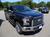 2015 Tuxedo Black Metallic Ford F150 XLT SuperCrew 4x4 #105348011