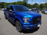2015 Blue Flame Metallic Ford F150 XLT SuperCrew 4x4 #105348010