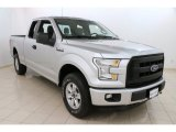 2015 Ingot Silver Metallic Ford F150 XL SuperCab 4x4 #105390575