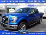 2015 Blue Flame Metallic Ford F150 XLT SuperCrew 4x4 #105423390