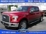 2015 Ruby Red Metallic Ford F150 XLT SuperCrew 4x4 #105423389