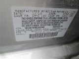 2014 Sentra Color Code for Magnetic Gray - Color Code: K36