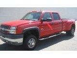 2003 Victory Red Chevrolet Silverado 3500 LT Crew Cab 4x4 Dually #105458604