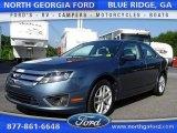 2011 Steel Blue Metallic Ford Fusion SEL V6 #105489036