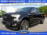 2015 Tuxedo Black Metallic Ford F150 XLT SuperCab 4x4 #105514310