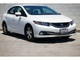 2015 Taffeta White Honda Civic Hybrid-L Sedan #105535986