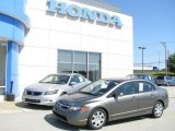 2006 Galaxy Gray Metallic Honda Civic LX Sedan #10537369