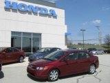 2007 Tango Red Pearl Honda Civic LX Sedan #10537394