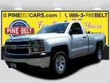2015 Silver Ice Metallic Chevrolet Silverado 1500 WT Regular Cab #105638476