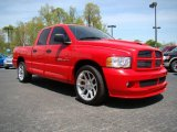 2005 Flame Red Dodge Ram 1500 SRT-10 Quad Cab #10548679