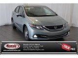 2015 Green Opal Metallic Honda Civic Hybrid Sedan #105638505