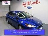 2015 Performance Blue Ford Focus SE Sedan #105677288