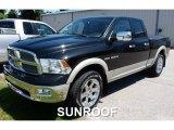 2009 Brilliant Black Crystal Pearl Dodge Ram 1500 Laramie Quad Cab 4x4 #105698865