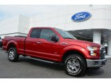 2015 Ruby Red Metallic Ford F150 XLT SuperCab 4x4 #105716562