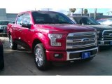 2015 Ruby Red Metallic Ford F150 Platinum SuperCrew 4x4 #105750130