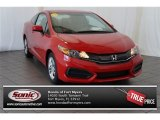 2015 Crimson Pearl Honda Civic LX Coupe #105750082
