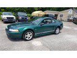 2000 Electric Green Metallic Ford Mustang V6 Coupe #105779403