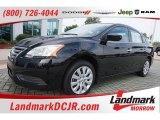 2014 Super Black Nissan Sentra S #105779361