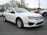 2010 White Suede Ford Fusion S #10548555