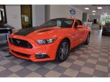 Competition Orange Ford Mustang in 2015