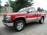 2002 Victory Red Chevrolet Silverado 1500 LS Regular Cab 4x4 #105779230