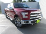 2015 Ruby Red Metallic Ford F150 Lariat SuperCrew 4x4 #105779485