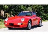 1995 Guards Red Porsche 911 Carrera Cabriolet #105817324