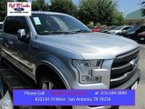 2015 Ingot Silver Metallic Ford F150 Lariat SuperCrew 4x4 #105816960