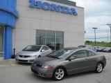 2007 Galaxy Gray Metallic Honda Civic EX Coupe #10537363