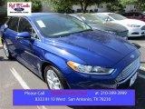 2016 Deep Impact Blue Metallic Ford Fusion SE #105954485