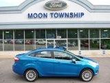 2015 Blue Candy Metallic Ford Fiesta Titanium Sedan #105954629