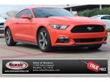 2015 Competition Orange Ford Mustang V6 Coupe #105954845