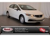 2015 Taffeta White Honda Civic HF Sedan #105990092
