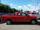 2015 Race Red Ford F150 XL SuperCab 4x4 #105990244