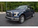 2015 Blue Jeans Metallic Ford F150 XLT SuperCab #106071884
