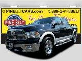 2012 Black Dodge Ram 1500 Laramie Crew Cab 4x4 #106071499
