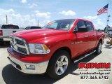 2012 Flame Red Dodge Ram 1500 Outdoorsman Crew Cab 4x4 #106176498
