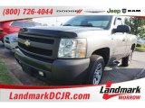 2008 Graystone Metallic Chevrolet Silverado 1500 Work Truck Regular Cab #106241806